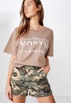 Cotton On - Cuffed chino shorts - multi