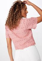 Cotton On - Billy short sleeve blouse - pink
