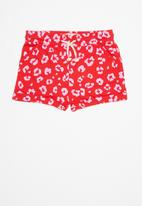 Cotton On - Nila knit short - red & pink