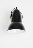 Sixth Floor - Poise wall light - black