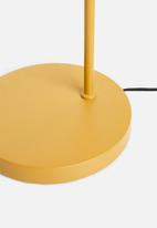 Present Time - Curve floor lamp - ochre