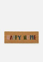 Present Time - Happy home door mat - multi