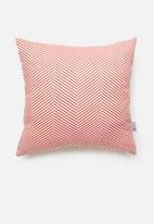 Sixth Floor - Herringbone cushion cover - coral