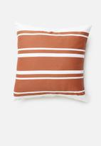 Sixth Floor - Stripe cushion cover - rust