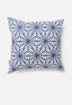 Sixth Floor - Geo cushion cover - navy