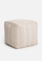 Sixth Floor - Spruce ottoman - white/cream