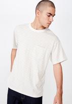 Cotton On - Graduate tee - white & beige