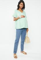 Superbalist - Baby doll blouse - green