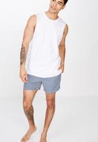 Cotton On - Basic swimshorts - navy & white