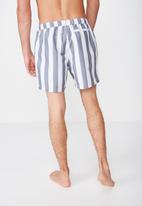 Cotton On - Basic swimshorts - grey & white