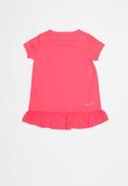 Nike - Nkg dri-fit short sleeve peplum tunic - pink