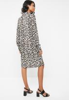 edit Maternity - Leopard print shirt dress - brown & black