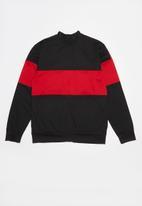 Converse - Cnvb 2 tone colorblock track jacket - black & red