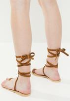 Superbalist - Faux leather sandal - tan