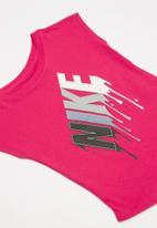 Nike - Nike girls block drip mod short sleeve tee - pink