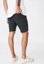 Cotton On - Raw hem chino short  - black