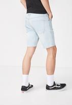 Cotton On - Skinny straight fit shorts - blue