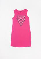 GUESS - Girls double tri jordan dress - pink