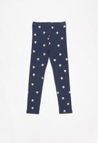 POP CANDY - Heart printed leggings - navy