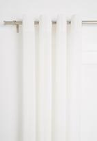 Sixth Floor - Textured sheer eyelet curtain - white
