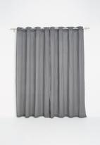 Sixth Floor - Textured sheer eyelet curtain - grey