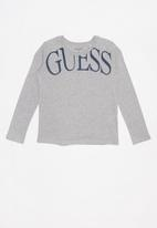 GUESS - Teens long sleeve guess tee - grey