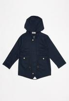 POP CANDY - Lined hooded parka jacket - navy