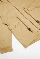 POP CANDY - Lined hooded parka jacket - beige