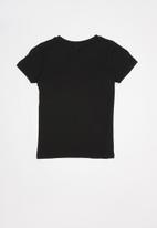 Rebel Republic - Teen boys printed tee - black & grey