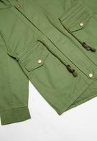 POP CANDY - Lined hooded parka jacket - green
