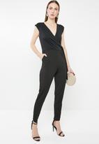 edit - Wrap front jumpsuit - black