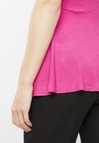 edit - Peplum short sleeve top - pink