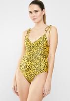 MSH - Cheetah one piece - black & yellow
