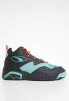 PUMA - Source mid buzzer - puma black/orange/blue turquoise