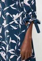 Superbalist - A-line dress with ties - navy