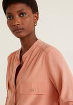 MANGO - Blouse with pockets - peach