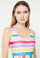 Brave Soul - Rainbow stripe one piece - multi