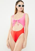 Brave Soul - Abby one piece - red & pink
