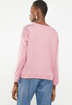 STYLE REPUBLIC - Lace inset sweater - pink