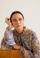 MANGO - Floral flared sleeve blouse - multi