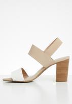 Call It Spring - Rogidae heel - neutral & white