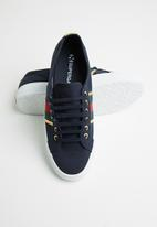 SUPERGA - 2750 flagside canvas lo - navy/gold