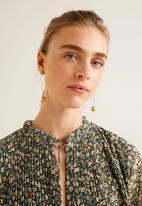 MANGO - Pleated floral dress - multi