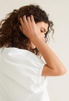 MANGO - V-neck blouse - white