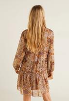 MANGO - Tiered floral dress - multi