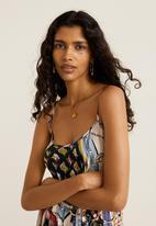 MANGO - Pleated scarf dress - multi