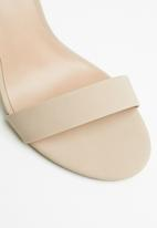Call It Spring - Faux leather ankle strap heel - neutral