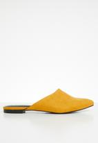 Call It Spring - Faux suede pointed mule - yellow