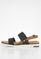 Call It Spring - Faux leather double strap sandal - black