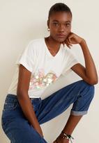 MANGO - Sequin printed T-shirt - white